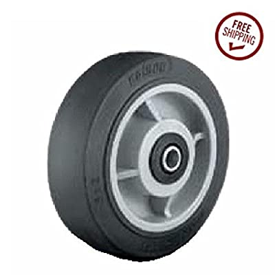 "(1) Colson 5"" x 2"" Soft Rubber Wheel w/1/2"" ID (500# Cap) Black Tread"