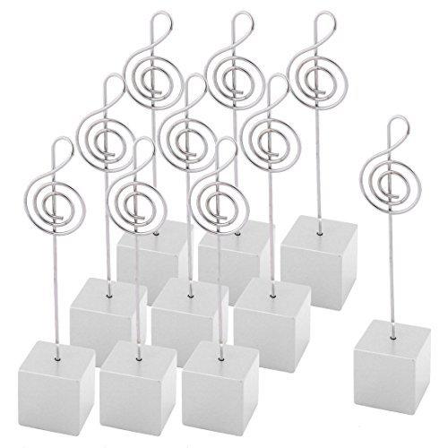 eDealMax Festa di nozze in resina a Forma di NOTA Musicale Table Decor Foto Memo Clip 10 pezzi Bianco