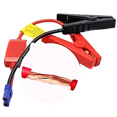 GVDOR 12V Connector Emergency Jumper Lead Cable Alligator Clamp Booster Battery Clips for Universal Car Trucks Jump Starter
