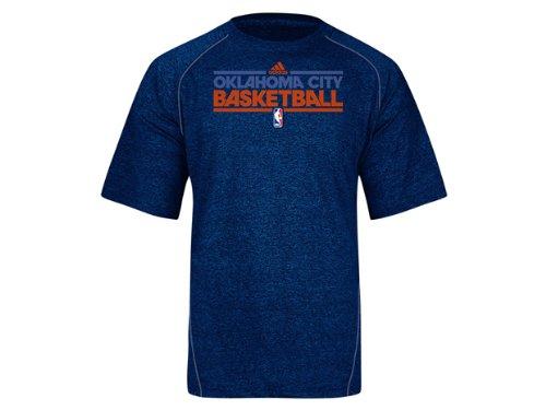 Oklahoma City Thunder Adidas New Authentic On-Court Practice Climalite Performance T Shirt (X-Large)