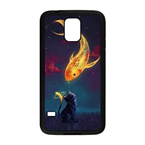 Customized Durable Case for SamSung Galaxy S5 I9600, Fish love Phone Case - HL-R685706