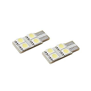 Unipower TMT LEDS(TM) 2 X BOMBILLAS LED CANBUS T10 W5W 4 LEDS UNA CARA SIN POLARIDAD SMD 5050 BLANCO 6000K MATRICULA POSICION INTERIOR COCHES MOTOS: ...