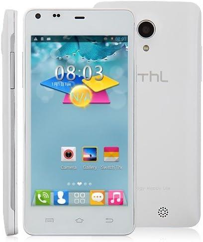 THL T5S SmartPhone Android 4.2 OS MTK6582 Quad Core WCDMA 3G 4.7 inch QHD Screen-Black (White): Amazon.es: Informática