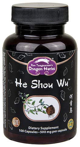 (Dragon Herbs He Shou Wu -- 500 mg - 100 capsules - Dietary Supplement - 100% All Natural, Certified Organic, Non-GMO, Vegan, Vegetarian, Superfood, Pure Premium Extract)