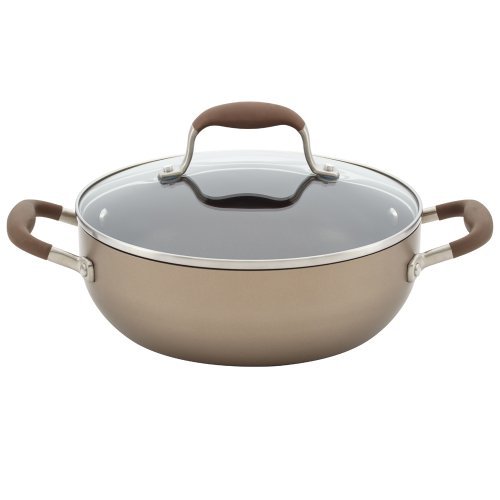 Anolon Advanced Bronze Hard Anodized Nonstick 3.5-Quart Covered Chef's Casserole