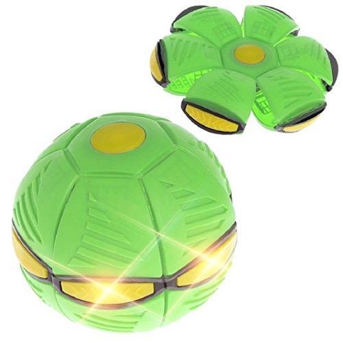 Sisit Jeu de Balle et de Ballon - Phlat Classique. Frisbee va se transformer en une balle. Déformation ballon de football avec 3 lumières LED.