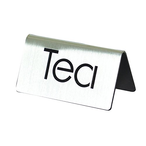 Service Ideas 1C-BF-TEA-MOD ID Tent''Tea'', Brushed by Service Ideas