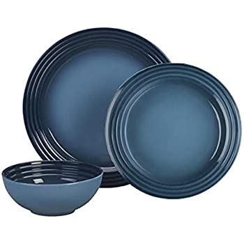 Le Creuset 12 Piece Small Spaces Dinnerware Set (Marine)