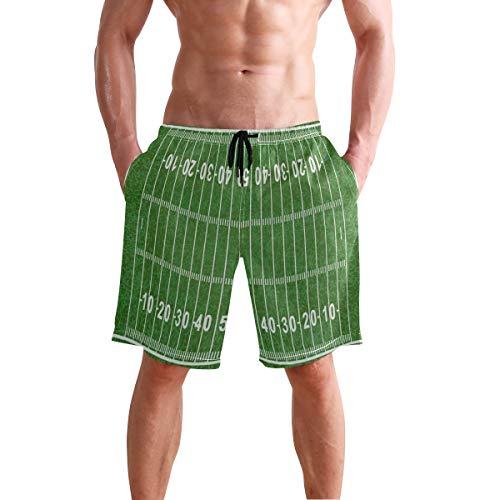 Chu warm Mens Shorts American Football Field Green Sport Lover Basketball Short Lounge Trousers for Boys