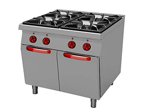 Cocina gas profesional 4 fuegos sin horno linea 700 TECNOFOOD ...