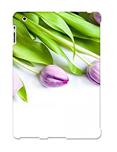 BiTbSpW432rkevJ Podiumjiwrp Awesome Case Cover Compatible With Ipad 2/3/4 - Purple Tulips