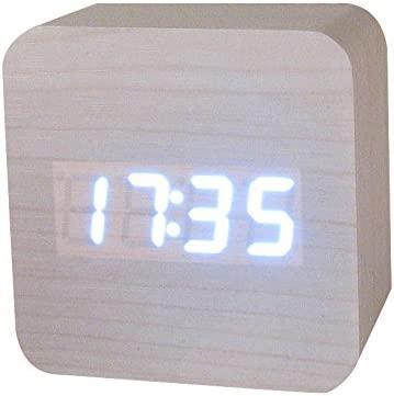 Webla 809 - Reloj de Madera de bambú Creativo con Pantalla de ...