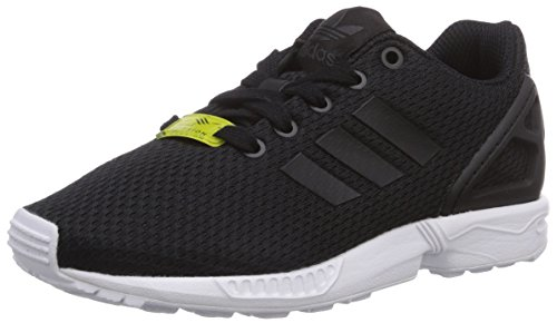 adidas Unisex-Kinder ZX Flux Low-Top, Schwarz Schwarz (Black/Black/Ftwr White)