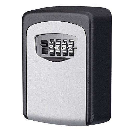 MDROKUN Key Storage Lock Box 4-Digit Combination Wall Mounted Key Safe Box Wall Mounted Lockbox by MDROKUN