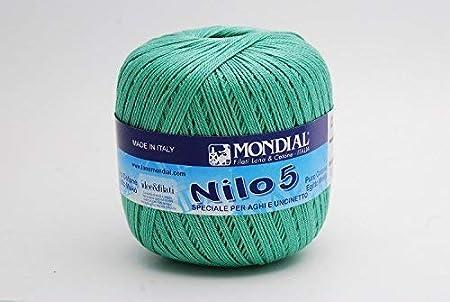 Mondial Nilo egipcio algodón Crochet hilo/hilo tamaño 5 – 863 ...