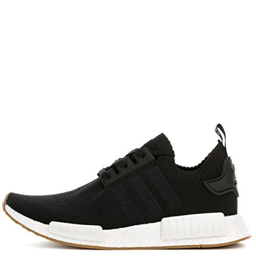 adidas NMD_R1 Primeknit Gum Pack Men's Shoes Black/Gum/Running White by1887 (11.5 D(M) US)
