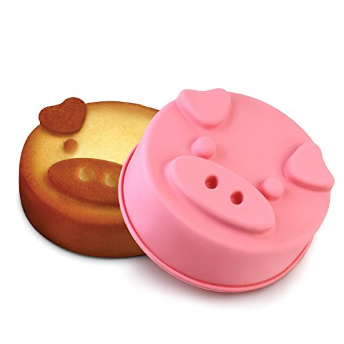 INNOKA Pig Shape Silicone Cake Mold [ Small 5.9