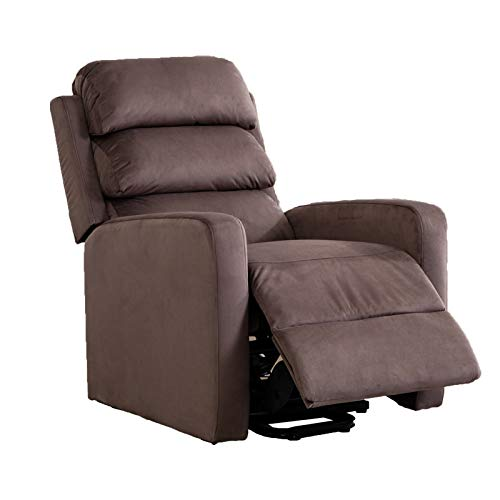 - BONZY HOME Recliner,Lift Control Luxury Chair Comfortable and Durable Fabric as Gift for Elderly for Sleeping, Reading,Watching TV in Living Room and Bedroom(Chocolate)