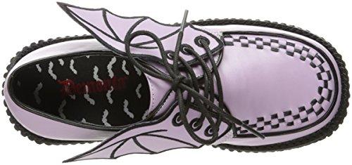 Lavender Leather Basse Creeper Scarpe Donna 205 Vegan Demonia 1xqUHpBnX