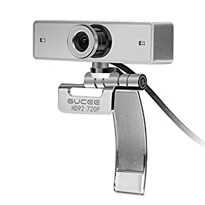 [2017 New Version] GUCEE HD Webcam 720P Skype Camera with Noise Cancelling Mic USB Plug and Play Web Cam, Widescreen Video Callling for PC Computer Laptop Desktop Notebook for Windows XP / 7 / 8 / 10