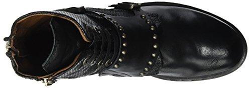 S Schwarz Nero Studs Boots A Biker 98 Women's 6qxd7dp