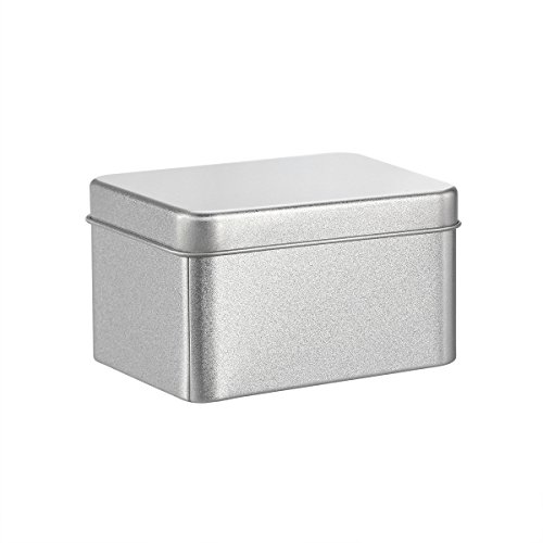 BESTONZON Square Tin Cans Empty Cube Steel Box Storage Container for Treats Gifts Favors and Crafts