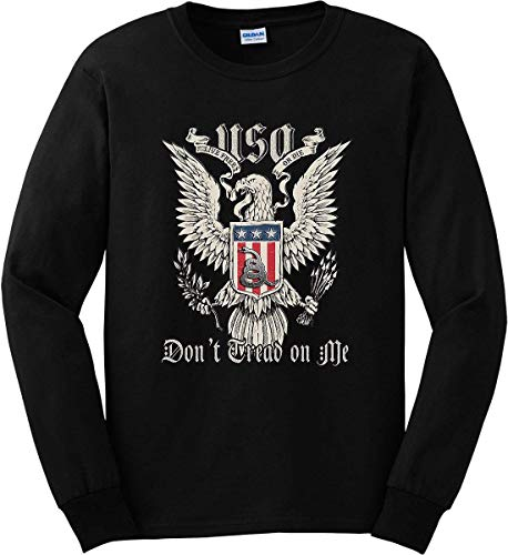 Sons Of Liberty Don't Tread on Me. Eagle with Shield and RATT 4XL Black Long