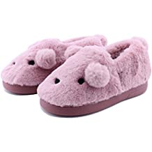 Image of Furry Puppy Dog Slippers for Girls and Toddlers