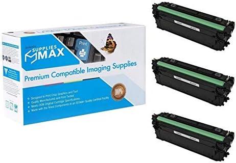 SuppliesMAX Compatible Replacement for Canon imageCLASS LBP-710//712CX Black High Yield Toner Cartridge NO. 040HBK 3//PK-12500 Page Yield CRG-040BK/_3PK