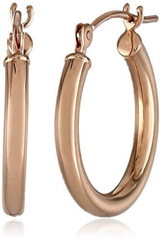 """14k Gold Hoop Earrings (0.6"""" Diameter)"""
