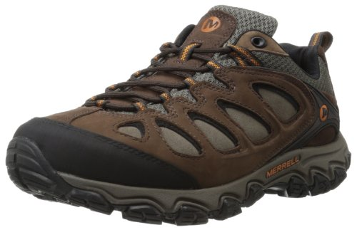 Bracken Footwear - Merrell Men's Pulsate Hiking Shoe,Black/Bracken,10 W US