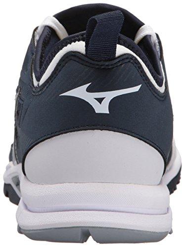 Mizuno (mizd9) Mens Giocatori Formatore 2 Tappeto Erboso Di Baseball-scarpe Navy / Bianco