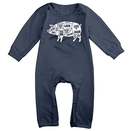 Orz Infants Spider Pig Long Sleeve Bodysuit Baby Onesie Baby Climbing Clothes Outfits Jumpsuit For 0-24 Months Navy 18 (Spider Girl Bodysuit Costume Australia)