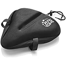 Large Gel Bike Seat Cover Cruiser Style (28 cm x 25 cm) KT-Sports Big Bike Saddle Cover For Exercise Bike – Comfortable Bicycle Seat Gel Saddle Cover, Wide and Large Suitable and Road Bike Saddles.