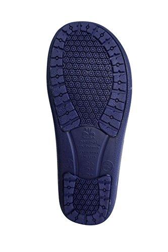 Natural Uniforms Mens Comfort Slip Resistant Non marking Sole Nursing Clog Navy Blue Q93RI