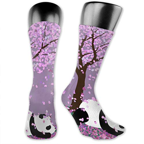 WOWRIGHT Panda Under The Tree Dress Socks Funny Stockings Crazy Socks Casual Cotton Crew Socks ()