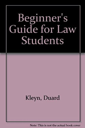 beginner s guide for law students duard kleyn frans viljoen rh amazon com Beginners Guide to Investing Beginner Guide Spacing