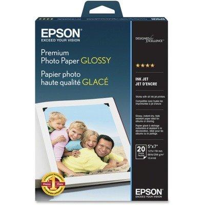 (Premium Photo Paper, 68 lbs, High-Gloss, 5 x 7, 20)