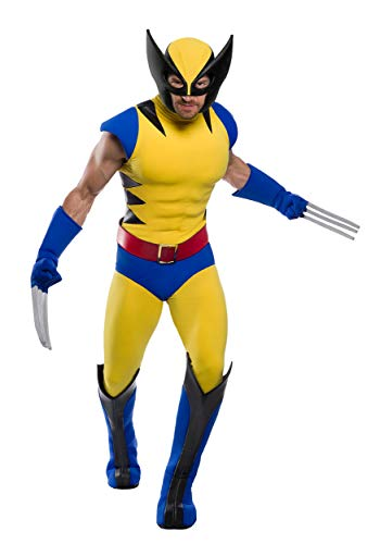 Premium Marvel Wolverine Men's Costume Large Yellow
