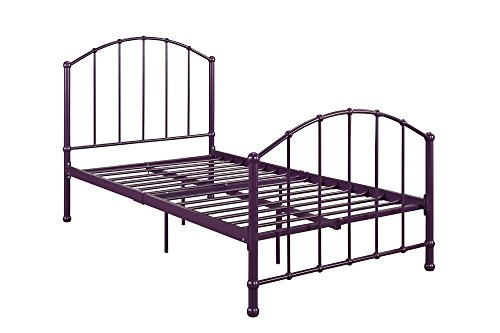 Dhp Brick Mill Ivy Metal Bed, Twin Size – Purple Explained