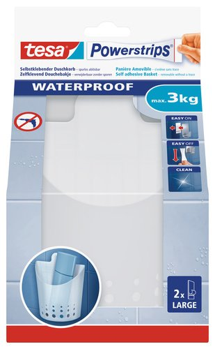 2 opinioni per Tesa 59705-00000-01 Powerstrips Waterproof Small Cestino Adesivo