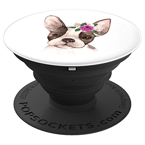Cute Boston Terrier Puppy - PopSockets Grip and Stand for Phones and Tablets ()