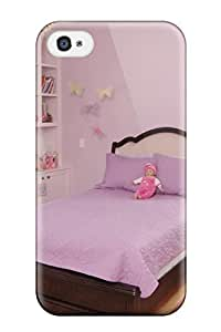 Fashionable Style Case Cover Skin For Iphone 4/4s- Girl8217s Lavender Bedroom With Crown Molding Chandelier 038 Lavender Bedspread