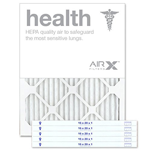 AIRx HEALTH 16x20x1 MERV 13 Pleated Air Filter - Made in the USA - Box of 6 by AIRx Filters