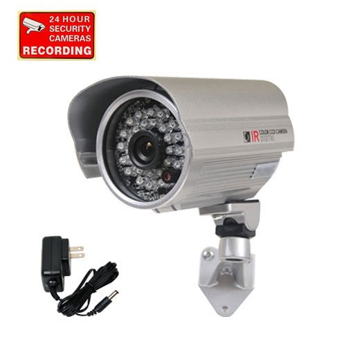 VideoSecu Bullet Security Camera Outdoor Day Night IR Infrared Weatherproof 1/3