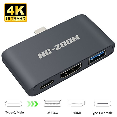 USB C to HDMI Multiport Hub Type C Adpater for Nintendo Switch Aluminium 3in1 Docking USB 3.0 Hub Port/PD Charging Port with Dock Hub for 2015/16/17/18 MacBook USB 3.1 Gen 2 Thumderbolt 3 to HDMI 4K (Nintendo Ds Station Docking)