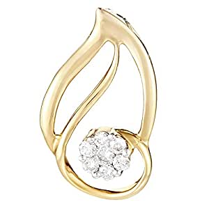 DEVRAHA Ladies 18K Gold Diamond Pendant