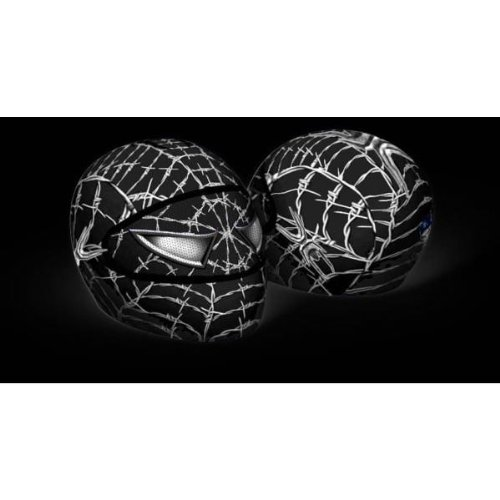 SkullSkins USA Made Graphic Protective Street Full Face Helmet Covers (110 Styles) - Frontiercycle (Free U.S. Shipping) (BLACK WEB)