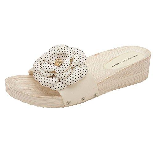 Dunlop Ladies Low Wedge Womens Summer Fit Flip Flop Toe Post Crystal Sandals Mules Jolie White zaxoh4yHrU
