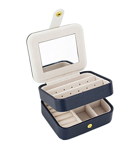 Zmart Portable Travel Jewelry Box Organizer Earring Ring Holder Necklace Storage Case...